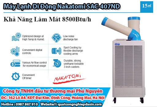 Máy lạnh di động SAC 407ND chính hãng giá rẻ chất lượng cao