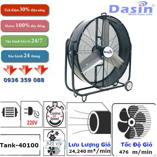 Quạt di động công nghiệp TANK 40100 chính hãng, giá rẻ