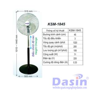 Quạt Đứng Công Nghiệp Dasin KSM-1845