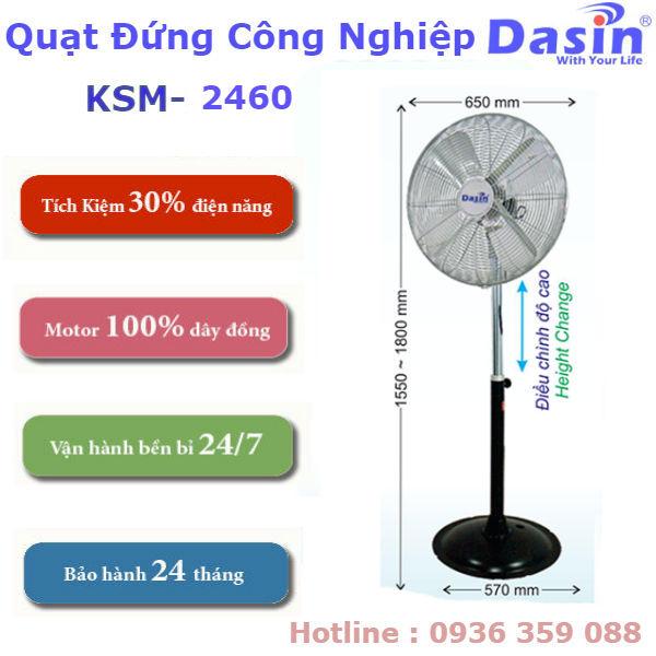 Quạt Đứng Công Nghiệp Dasin KSM-2460 giá rẻ