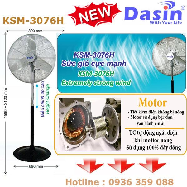Quạt đứng Dasin KSM 3076H giá rẻ, bảo hành dài hạn