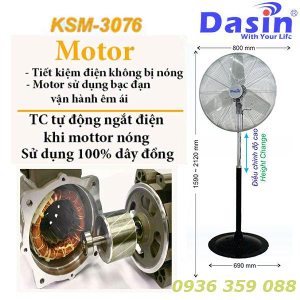 Quạt đứng công nghiệp Dasin ksm 3076 chính hãng giá rẻ chất lượng cao