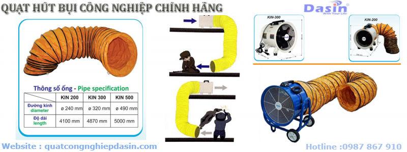 Ứng dụng đa năng của ống gió mềm quạt hút Dasin Đài Loan