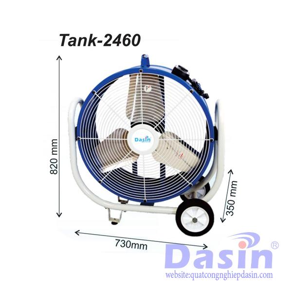 Quạt di động công nghiệp Tank 2460