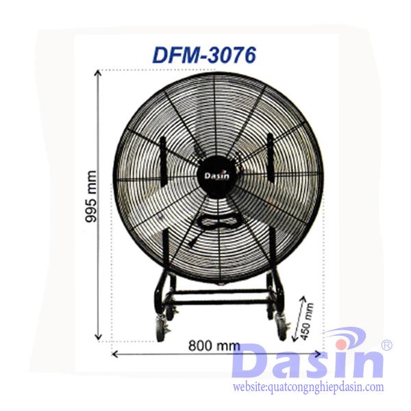 Quạt Sàn Di động Dasin DFM-3076