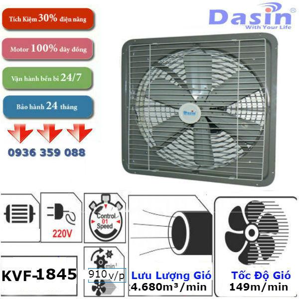 Quạt thông gió Dasin KVF 1845 chính hãng, giá rẻ