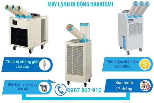 Máy lạnh di động nhập khẩu chính hãng giá rẻ chất lượng cao