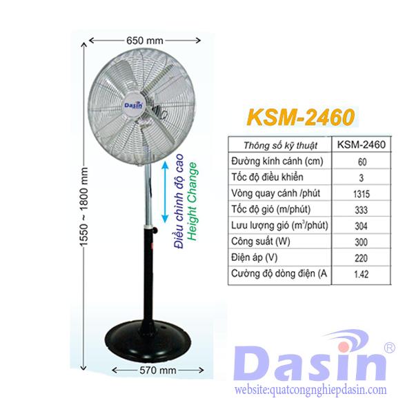 Báo Giá Quạt Đứng Nghiệp Dasin KSM-2460