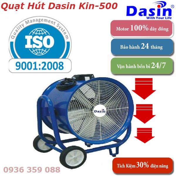 Quạt Hút Công Nghiệp Dasin Kin-500 chất lượng cao