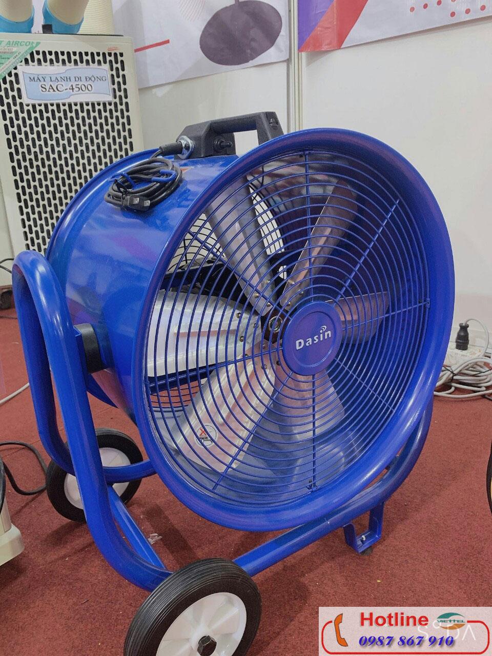 Hình ảnh thật của sản phẩm quạt hút công nghiệp Dasin Kin 500