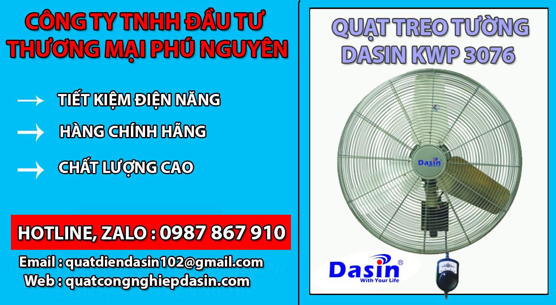 Quạt treo tường Dasin KWP 3076 chính hãng, giá rẻ
