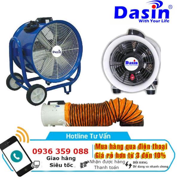 Quạt hút công nghiệp nối ống gió Dasin