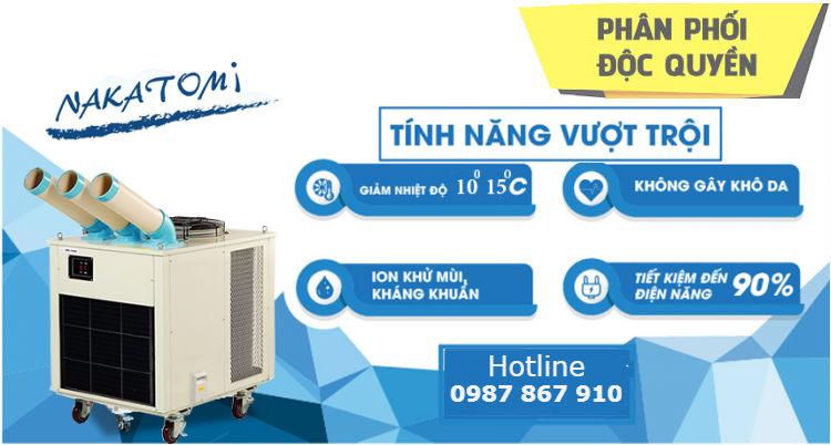 Phân phối độc quyền máy lạnh di động Nakatomi giá rẻ tại Hà Nam