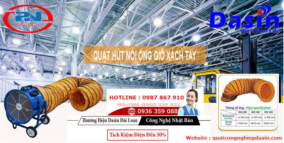 Quạt hút nối ống dasin tại Bắc Ninh