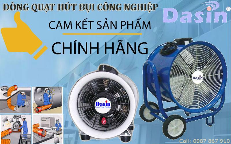 Sản phẩm quạt hút bụi nối ống công nghiệp Dasin chính hãng giá rẻ chất lượng cao