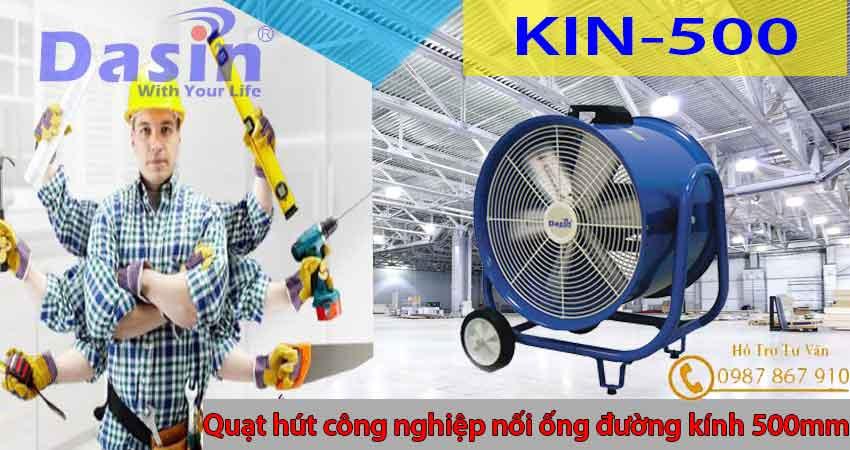 Quạt hút gió công nghiệp đường kính cánh 500mm