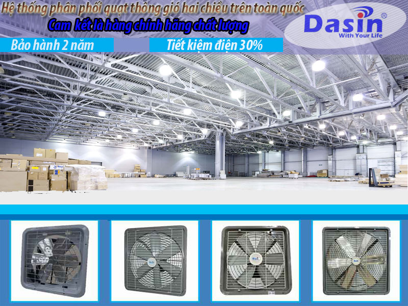 Các mã hàng quạt thông gió vận hành hai chiều Dasin