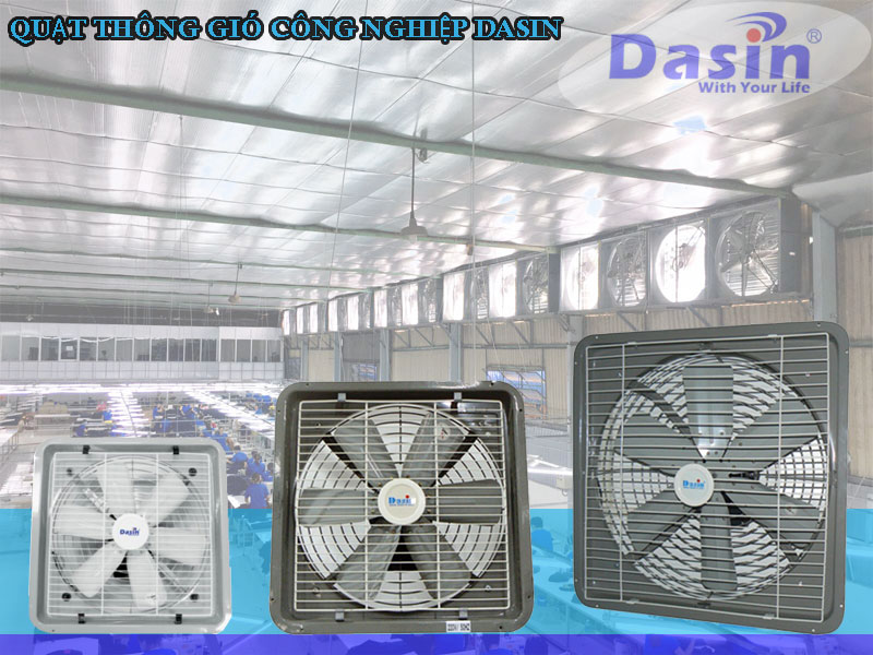 Tư vấn lắp đặt quạt thông gió hai chiều công nghiệp Dasin chính hãng chất lượng