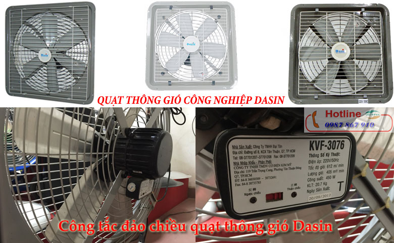 Thiết kế của quạt thông gió giá rẻ Dasin