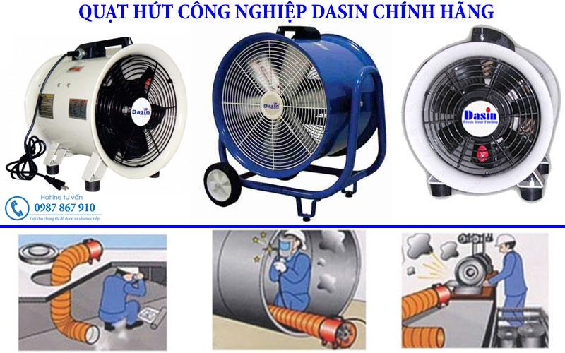 Quạt hút công nghiệp Dasin chính hãng chất lượng công suất lớn