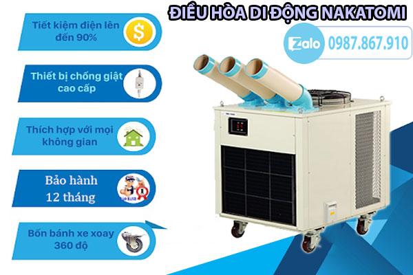 Một vài ưu điểm của điều hòa máy lạnh di động nhập khẩu Nhật Bản