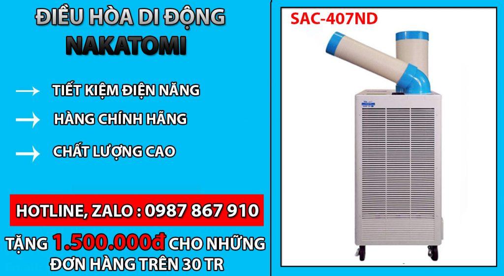 Máy lạnh di động Nakatomi SAC 407ND