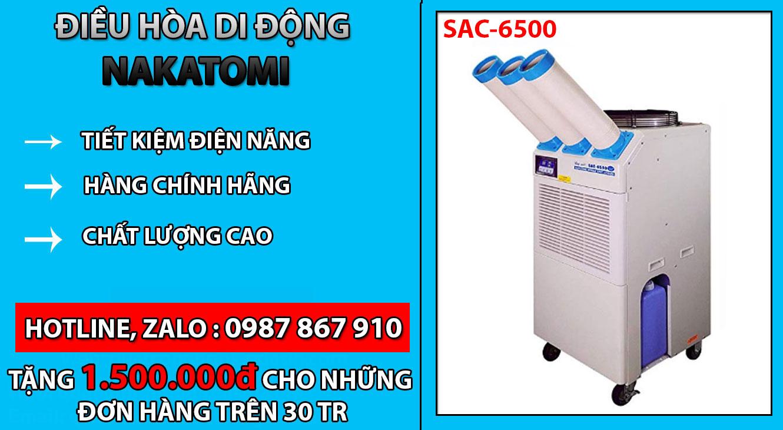 Điều hòa SAC-6500 chính hãng nhập khẩu Nhật Bản chất lượng cao