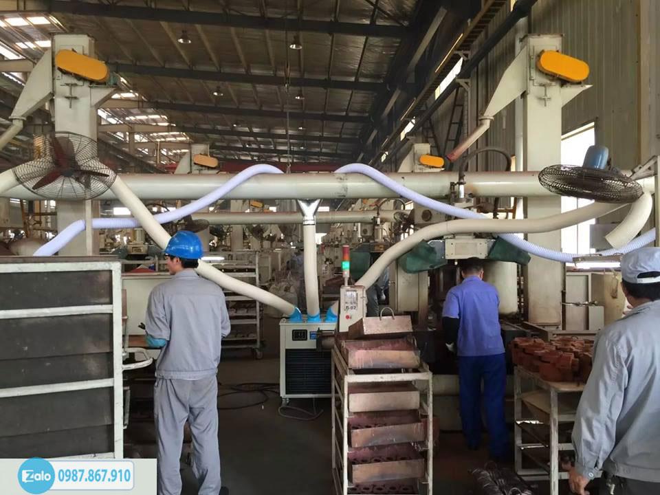 Ứng dụng của máy lạnh di động Nakatomi trong việc làm mát cho máy móc công nghiệp