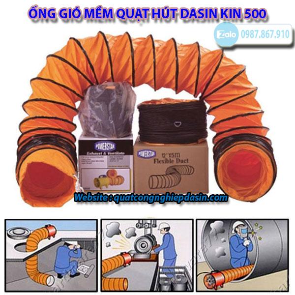 Ống gió mềm quạt hút KIN 500 nhập khẩu chính hãng giá rẻ chất lượng cao