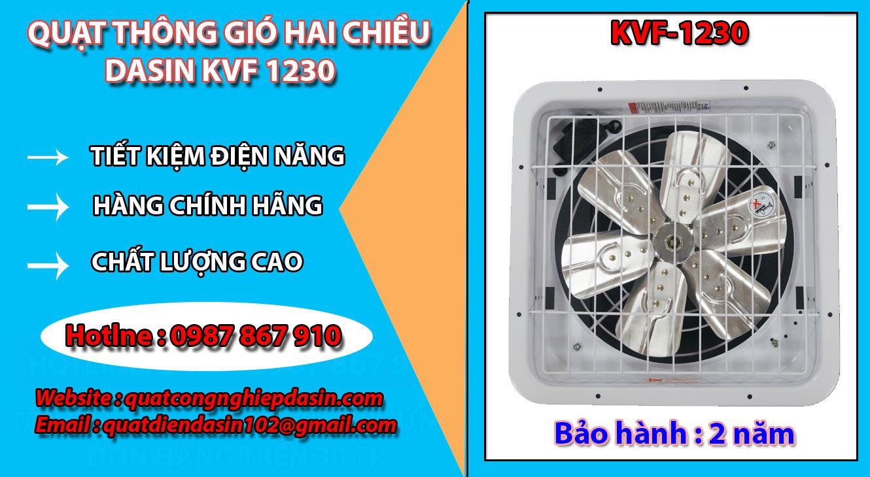 Ưu điểm quạt thông gió chính hãng giá rẻ chất lượng công suất lớn kvf 1230