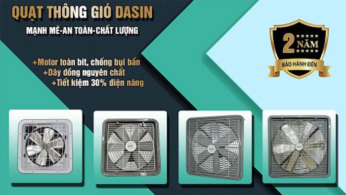 Quạt thông gió Dasin chính hãng, giá rẻ, chất lượng cao