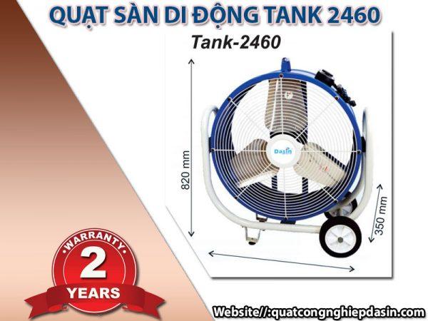 Quạt di động công nghiệp Dasin Tank 2460