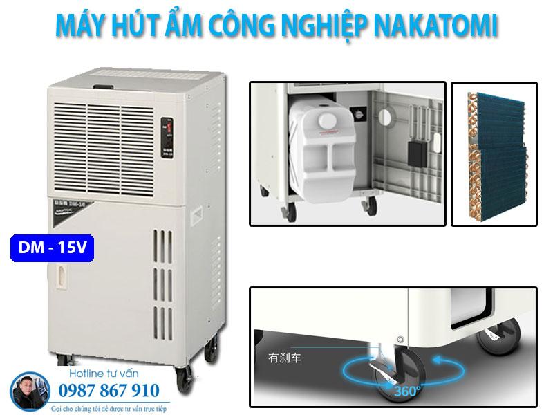 Máy hút ẩm di động Nakatomi DM-15V