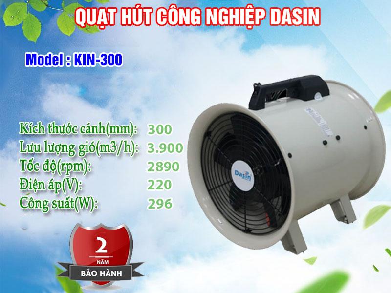 quạt hút công nghiệp Dasin kin 300