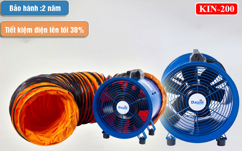 Quạt hút công nghiệp Dasin Kin 200 chính hãng.