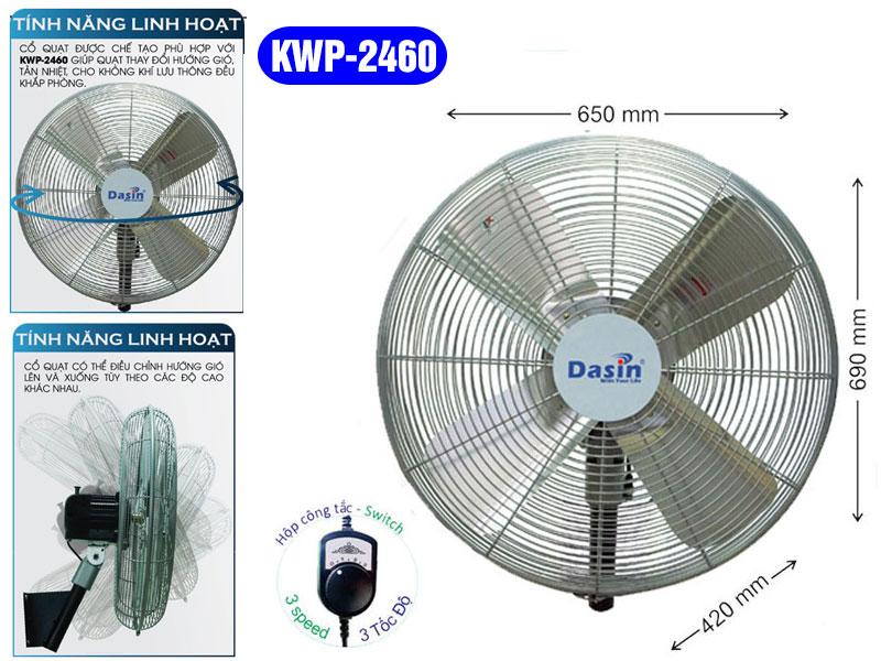 Quạt Treo Tường Dasin KWP-2460